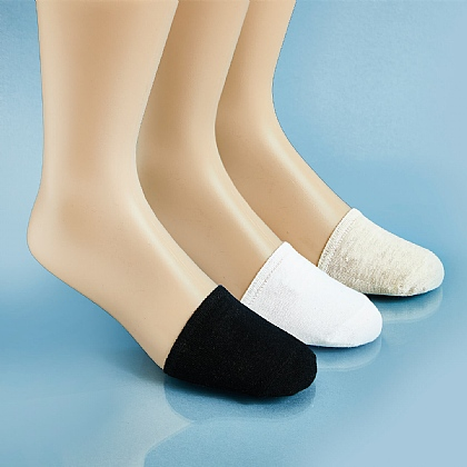 Pack of 3 Invisible Half Toe Socks