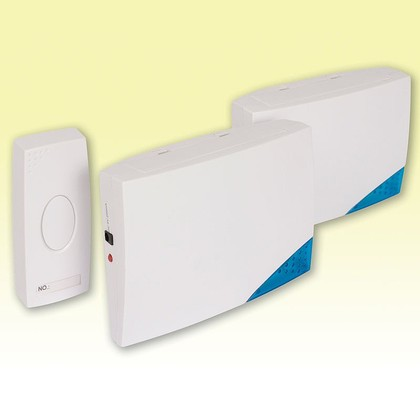 Cordless Chiming Doorbell with 2 Receivers