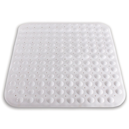 White Mould-Free Square Shower Mat