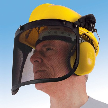 Safety Helmet with Ear Protectors