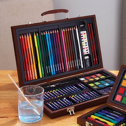 Bourne & Hollins 92-piece Art Set