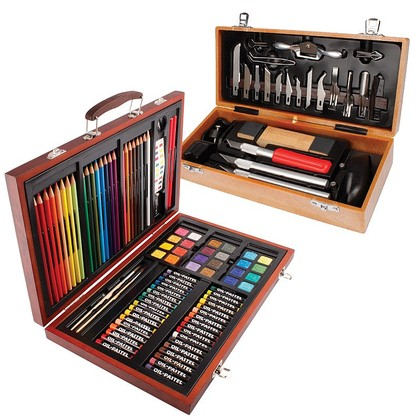Bourne and Hollins 92-piece Art Set and Deluxe Hobby-craft Tool Set