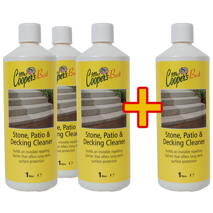 3x 1L Stone Cleaner Concentrate + 1 free