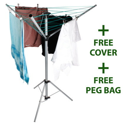 3-arm Rotary Clothes Dryer + Free Cover and Peg Bag