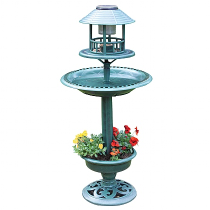 Solar Bird Bath and Planter