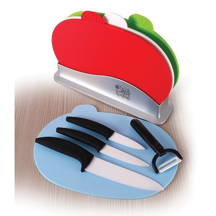 Ceramic Knife Set and Chopping Board Set