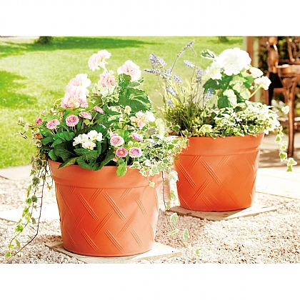 Set of 2 Self-Watering Planters