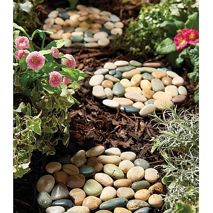 Pack of 3 Pebble Stepping Stones