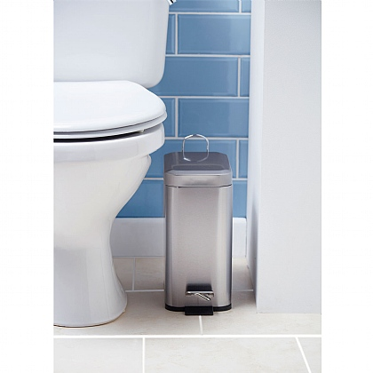 5L Stainless Steel Bathroom Bin