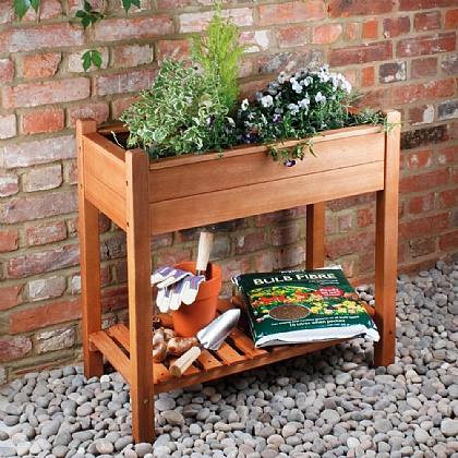 Wooden Raised Planter + Liners