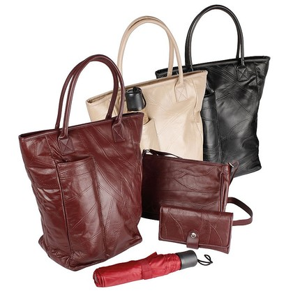 Handbag Set with Umbrella and Purse