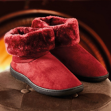 Burgundy Thermal Slipper Boot
