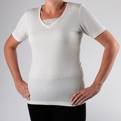 Pk 2 Cream Women's Thermal Tops