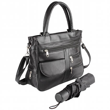 Organiser Handbag with Umbrella