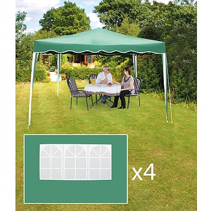 Folding Gazebo 3m x3m and 3m x3m Gazebo Side Panel x4