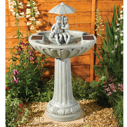 Umbrella Solar Birdbath Fountain