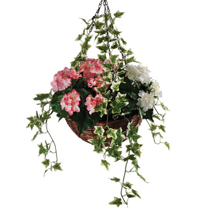 Artificial Hydrangea Hanging Basket