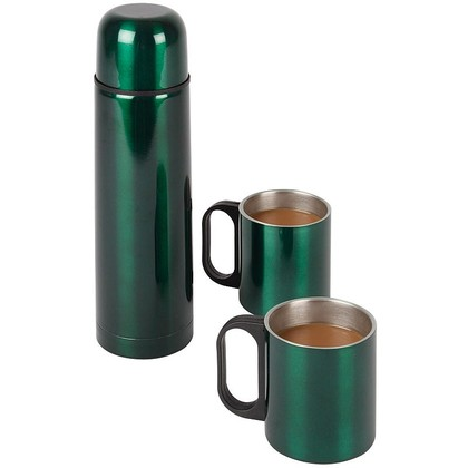 Stainless Steel Mug and Flask Set
