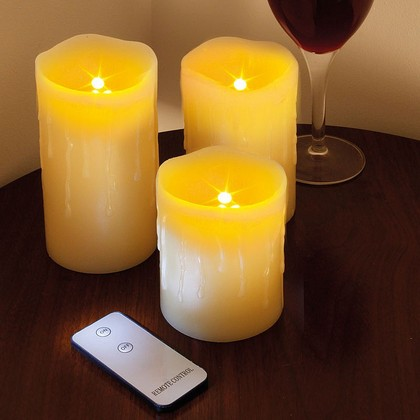 Set of 3 LED Candles