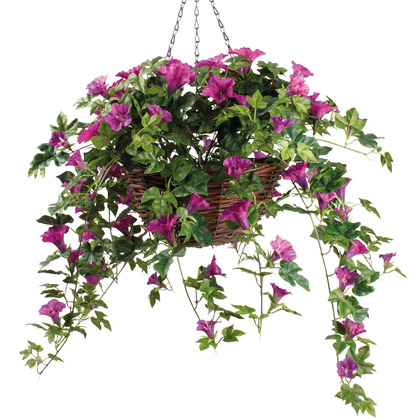 Artificial Fuchsia Hanging Basket Garden Coopers Of