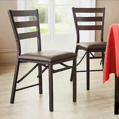Set of 2 Folding Dining Chairs