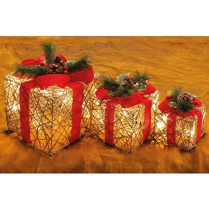 Set of 3 Light Up Presents