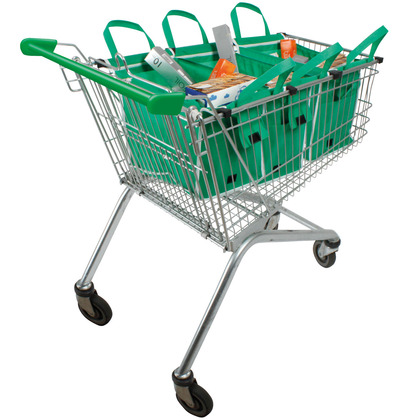 Set of 4 Shallow Supermarket Trolley Bags