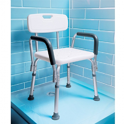 white back categories medical plastic seat chair bathtub armrest o bench shower itm adjustable bath stool