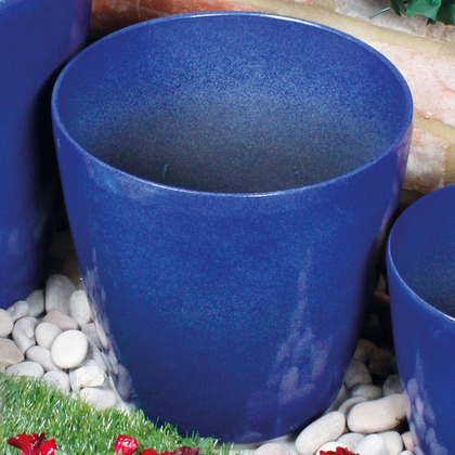 Medium Blue Glazed Pot