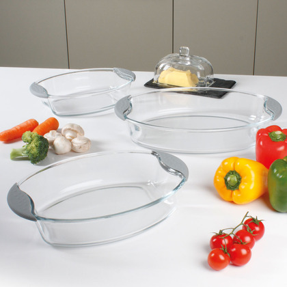 Set of 3 Glass Oven Dishes
