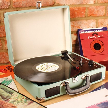 Record Player in Suitcase