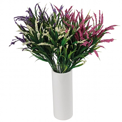 Artificial Heather in a Vase