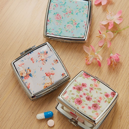 Floral Pill Cases Pack of 3