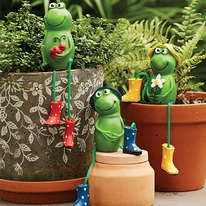 Set of 3 Pot Frogs