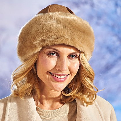 Faux Sheepskin Hat